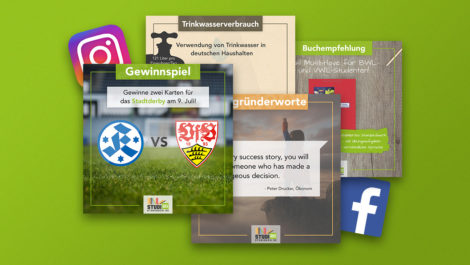 Screenshots verschiedener Social-Media Posts